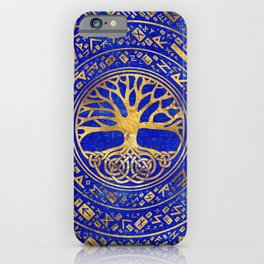 Tree of life -Yggdrasil - Lapis Lazuli iPhone Case