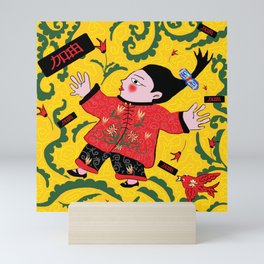China girl Mini Art Print