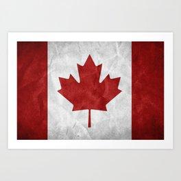 Canada Grunge Flag Art Print