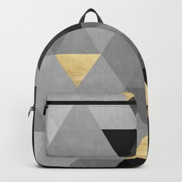 Concrete gray and gold composition Backpack