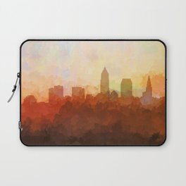 Cleveland, Ohio Skyline - In the Clouds Laptop Sleeve