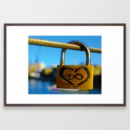 Love Locks 2012 48 Framed Art Print