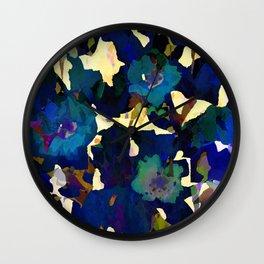 Daffodil Blue Wall Clock