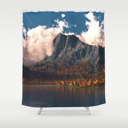 Autumn Cliffs Shower Curtain