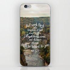 Seek First iPhone Skin