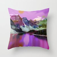 river Throw Pillows featuring River by Asya Solo