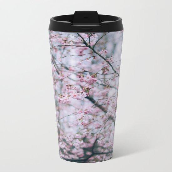 Cherry Blossom forest Metal Travel Mug