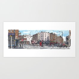 Bow, Monmouth and Russell Streets Art Print