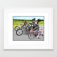 pee wee Framed Art Prints featuring Pee Wee Rider by Rabittooth