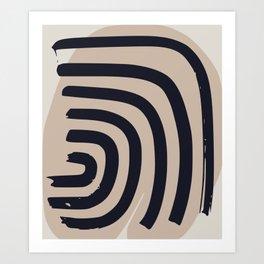 Abstract paint drip Art Print