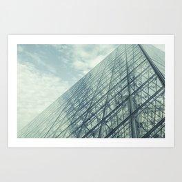 Louvre Pyramid Paris Art Print