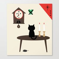 home sweet home Canvas Prints featuring Home by Charmy