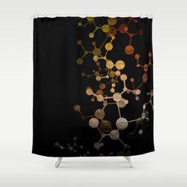 Metallic Molecule Shower Curtain