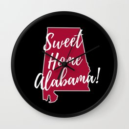 Sweet Home Alabama State Outline Gifts Wall Clock