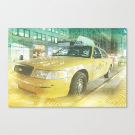New York Taxi at midnight Canvas Print