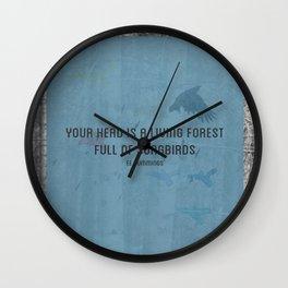 ee cummings - songbirds. Wall Clock