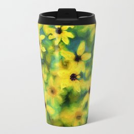 Flower Abstract Travel Mug
