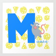 m for mouse Art Print