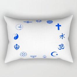 Religions of the World Blue Rectangular Pillow