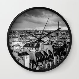 Paris is LOVE Wall Clock