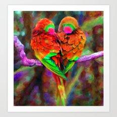 Love Birds - Painting Style Art Print