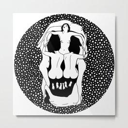 Salvador Dalí - Voluptuous death Metal Print