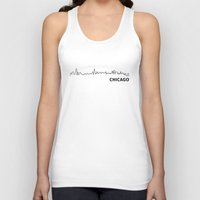 chicago Tank Tops featuring Chicago by Fabian Bross