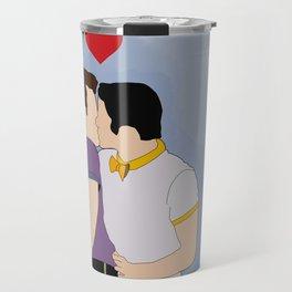 Klaine Kissing Travel Mug