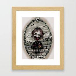 Gothic Lolita Skeleton - Cartoons Illustration Framed Art Print