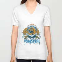 punisher V-neck T-shirts featuring Punisher by Tshirt-Factory