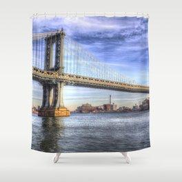 Manhattan Bridge New York Shower Curtain