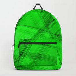 Angular strokes with malachite diagonal lines from intersecting bright stripes of light.  Backpack
