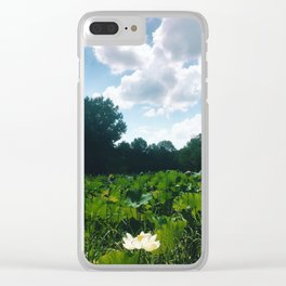 Pond in Deerpark Arboretum, Tennessee Clear iPhone Case