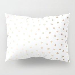 Golden Polka Dots Pillow Sham