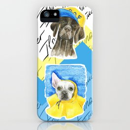 Dog Illustrations - cool dogs iPhone Case