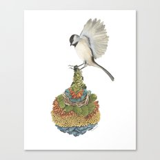 Quilted Bundles: The Bird I Canvas Print