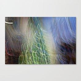 Abstract Lit Xmas Tree1 Canvas Print