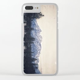 Moonrise Mountains Clear iPhone Case