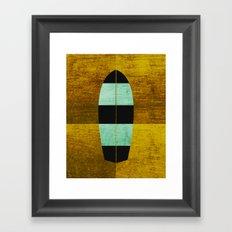 Canary/Mint Surfboard Framed Art Print