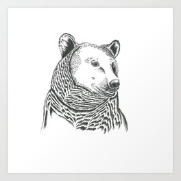 Bear Illustration Art Print