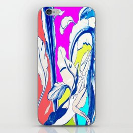 Plant in Blue Marker - Leaf of Life Miracle Leaf - Colorful iPhone Skin