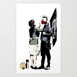 Banksy, Anarchist Punk And His Mother Artwork, Posters, Prints, Bags, Tshirts, Men, Women, Kids Art Print