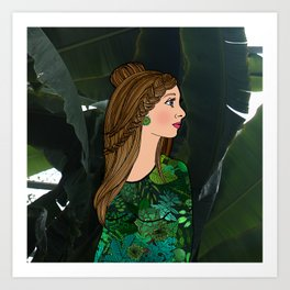 Bibi and the Botanic Garden Art Print