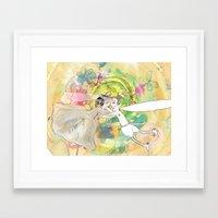 wedding Framed Art Prints featuring wedding by Agata Kowalska