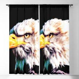 bald eagle 03 neon lines extraordinary Blackout Curtain