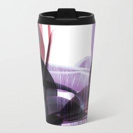 Tropical Glitches Metal Travel Mug