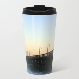 Ventura Ocean Wave Storm Pier Metal Travel Mug