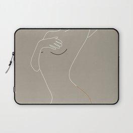 Minimal Line Art Woman Figure II Laptop Sleeve