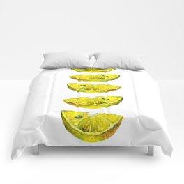 Lemon Slices White Comforters