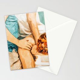 Romance #painting #love Stationery Cards